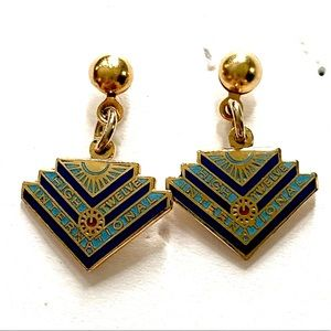 High twelve International dangle earrings vintage